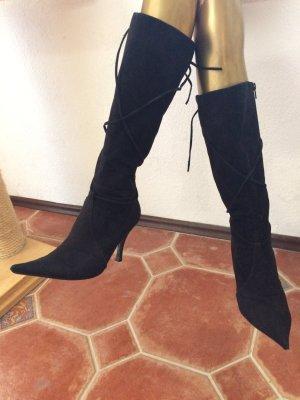 Toller italienischer Stiefel, Wildleder