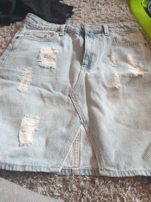 H&M Spijkerrok grijs-bruin-lichtblauw