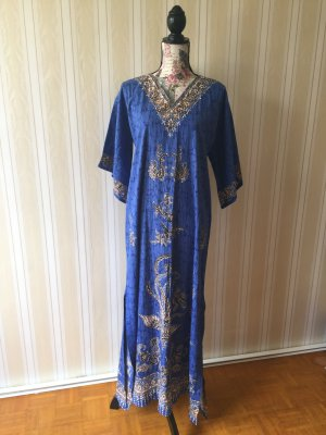 Caftan blue cotton