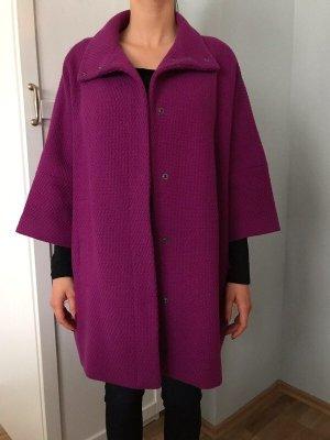 Benetton Oversized Coat violet