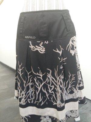 Airfield Midi Skirt black-beige