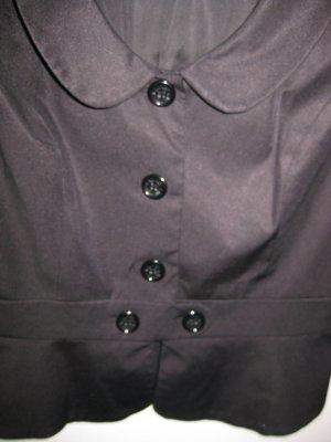 Toller Kurzarm-Blazer/Bluse in dunkelblau von Hallhuber, Gr. 40 mit aufwändigen Details