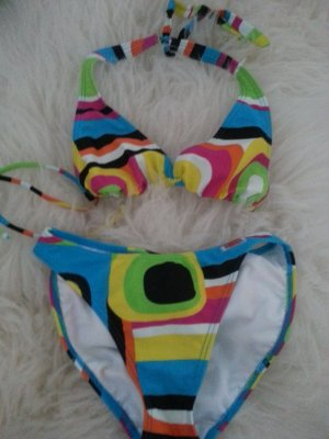 Toller Langnese Bikini bunt XS 32! Blogger Sommer Trend Fashion