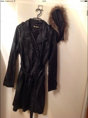 Italia Moda Abrigo de entretiempo negro
