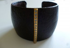 Pilgrim Armlet brown-gold-colored leather