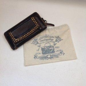 Cowboysbag Portemonnee donkerbruin-bruin Leer