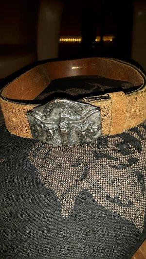 Cinturón de cuero camel-marrón claro Cuero