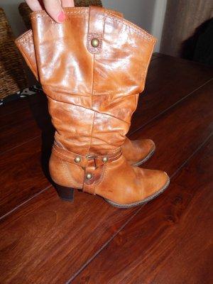 Tamaris Buskins cognac-coloured leather