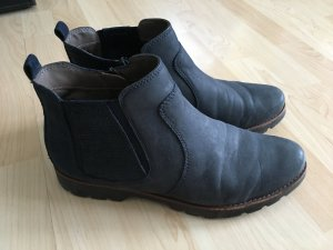 Bama Winter Booties dark blue leather