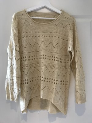 Sheinside Pullover all'uncinetto bianco sporco
