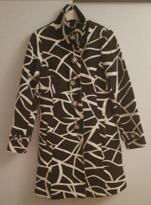 Toller Mantel schwarz-weiß Größe S