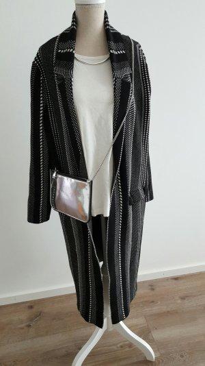 Zara Manteau noir-blanc
