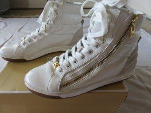Michael Kors Basket slip-on blanc-jaune foncé cuir