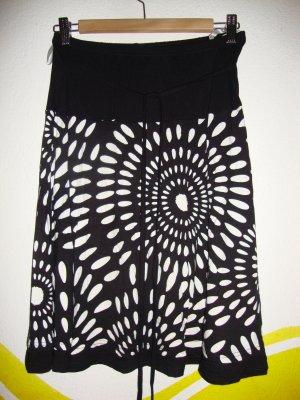 Falda midi negro-blanco