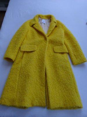 Mango Suit Cappotto taglie forti giallo Mohair