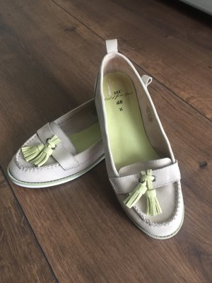 H&M Moccasins oatmeal-lime yellow