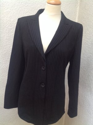 Armani Collezioni Long Blazer black-light grey mixture fibre
