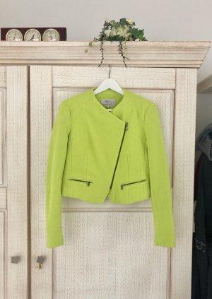 Zara Blazer corto verde pradera-amarillo limón