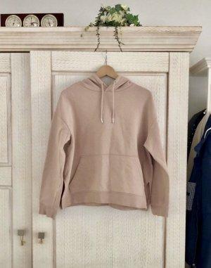 H&M Jersey con capucha rosa empolvado Algodón
