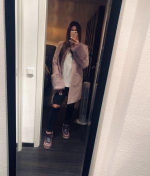 Toller neuer rosa justfab Mantel mit Fell