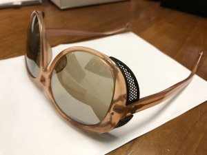 Toller Original Moncler Colombin Occhiali Sonnenbrille Skibrille Etui und Tuch rosa Rosé