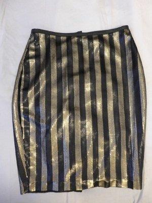 toller Paillettenrock H&M nie getragen. Gold Schwarz gestreift