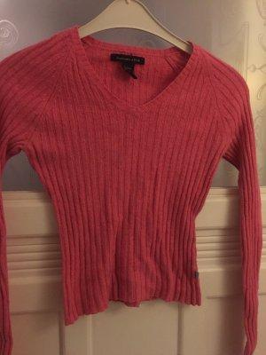 Toller pinker Wollpulli von Abercrombie&Fitch mit extra langen Ärmeln