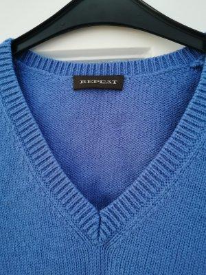 Repeat Wool Sweater steel blue-cornflower blue
