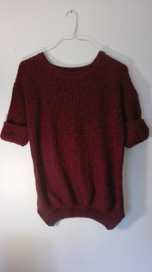 Toller Pulli in Bordeaux Rot