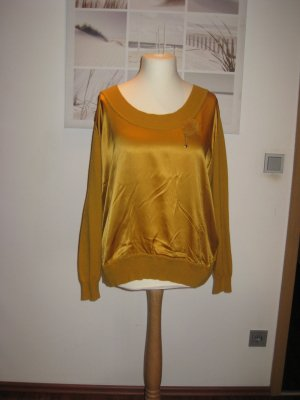 Twin-Set Simona Barbieri Maglione di lana sabbia-giallo scuro