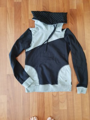 Hooded Sweater black-light grey