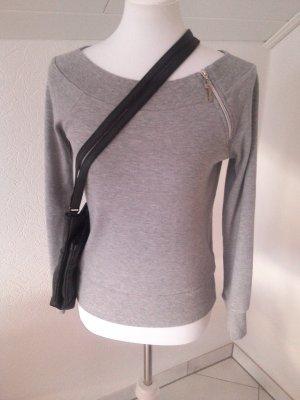 toller Pullover von Explorer,Gr.36,grau,mit Reißverschluss