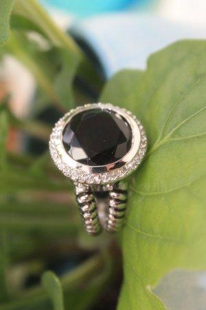 toller Ring mit großem Stein * versilbert * 21 mm Innendurchmesser * NEU *