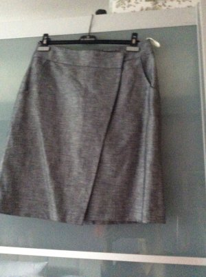 Comma Skirt silver-colored cotton