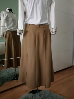 Basler Midi Skirt light brown wool