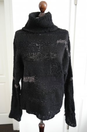 Zadig & Voltaire Deluxe Turtleneck Sweater black-silver-colored mixture fibre