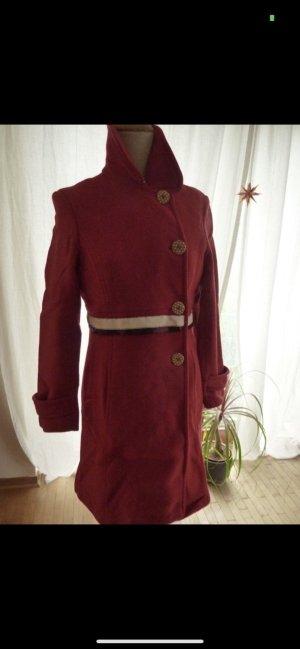 1.2.3 Paris Manteau en laine rouge