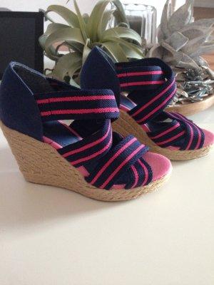 H&M High-Heeled Sandals raspberry-red-dark blue
