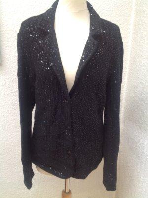 Armani Collezioni Blazer in maglia nero Lana