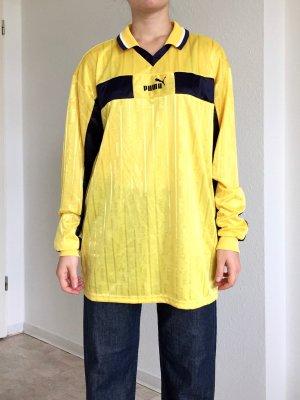 Toller seidenglänzender Langärmel Sweater von Puma in gelb