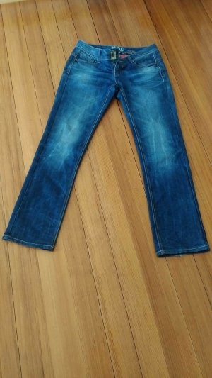 Low Rise jeans staalblauw Andere