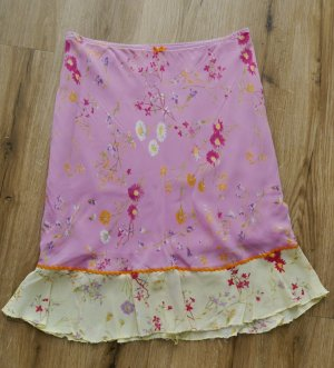 United Colors of Benetton Flounce Skirt primrose-pink viscose