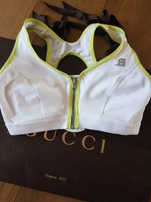 Sports Shirt white-lime yellow