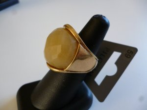 Pilgrim Statement Ring gold-colored-primrose metal