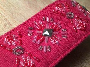 Esprit Ceinture en tissu rose-magenta coton