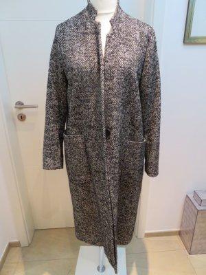Toller stylischer Mantel Wintermantel schwarz weiss in  Fischgraet von Zara in XL