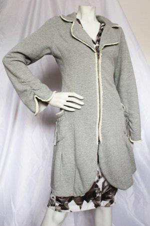 Crime Sweat Jacket grey-white cotton