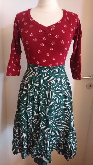 Blutsgeschwister Circle Skirt forest green-black viscose