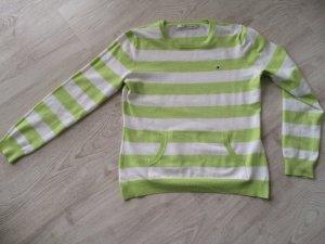Toller Tommy Hilfiger pullover grün weiss gestreift Gr. M