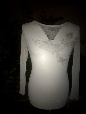 0039 Italy V-Neck Sweater white